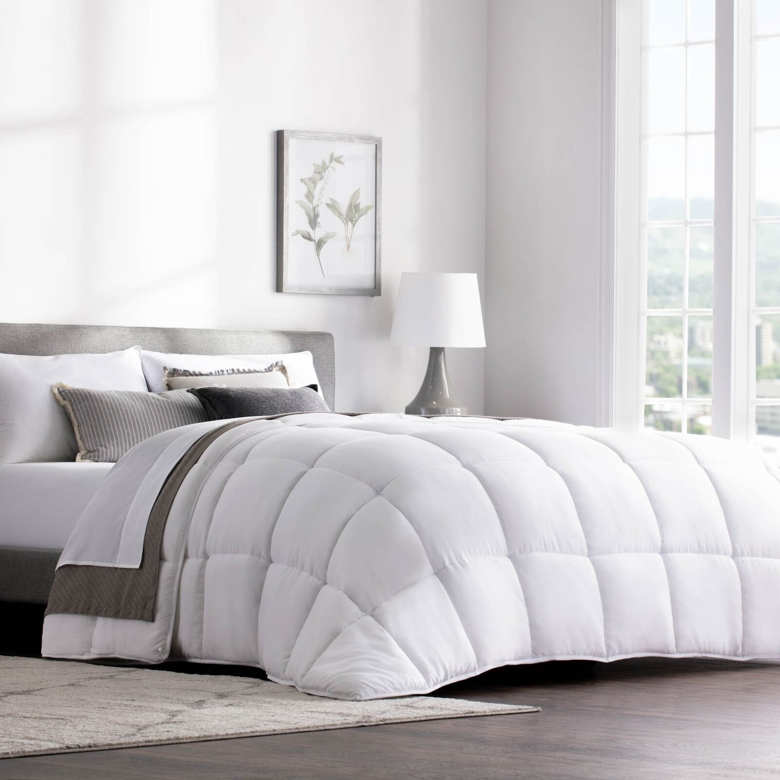 WEEKENDER Quilted Down Alternative Hotel-Style Comforter - Use as Duvet Insert