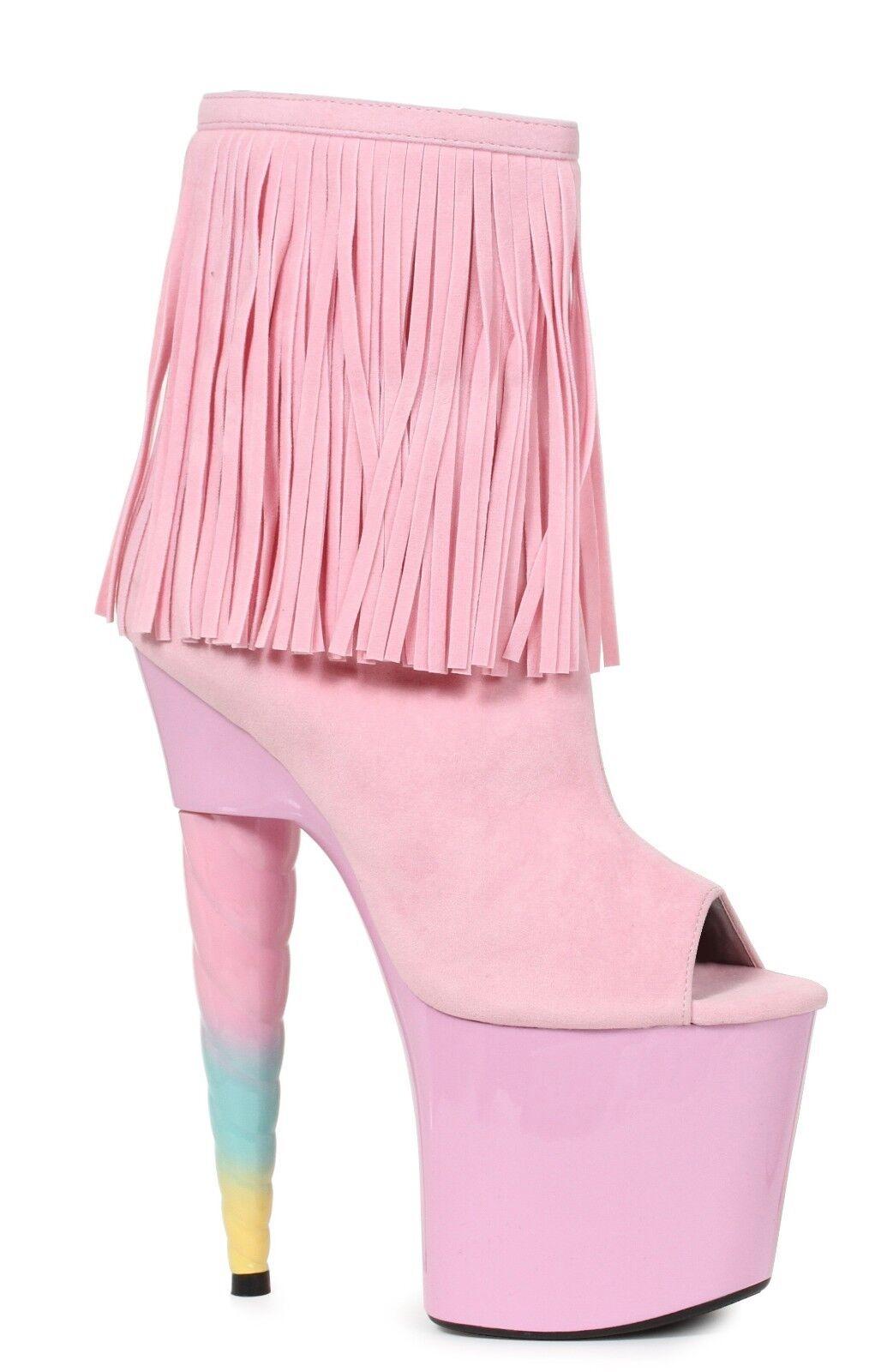 Pink Tassels Unicorn My Little Pony Cosplay Stripper Stripper Stripper Heels shoes size 6 7 8 9 10 aee40a