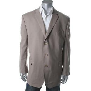 $275 Sean John Taupe Wool Blend Notch Collar Sportcoat Blazer Sz 42S NWT