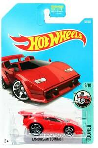 2017 Hot Wheels 152 Tooned Lamborghini Countach Red Ebay
