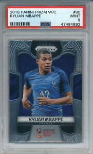 2018-Panini-Prizm-World-Cup-Kylian-Mbappe-80-Rookie-France-PSA-9-MINT
