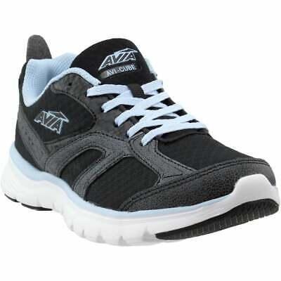 avia cube casual running shoes  black  womens  ebay