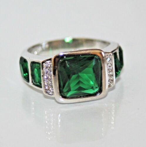 750 talla 62 Ø 19,7 Esmeralda verde circonita top caballero anillo trébol 18 K gf Vandersanden.