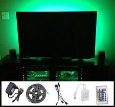 4x50cm 5050 RGB LED MOOD Lighting idee TV Retroilluminazione Multi Colore cambiare NEW