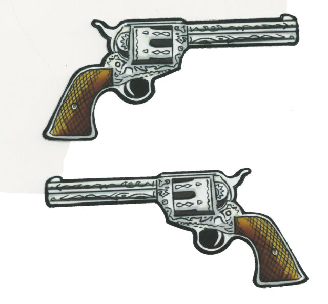 GUN - PAIR OF SIX SHOOTER - STICKERS