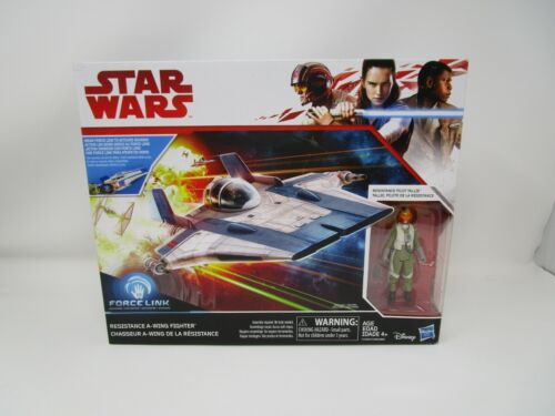 Résistance A-Wing Fighter w Pilot Star Wars The Last Jedi Comme neuf IN BOX Hasbro