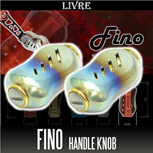 LIVRE Fino Titan Handle Knob 2 Stücke FIRE   Gold