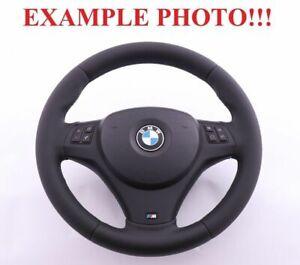 BMW-1-3-1-E81-E82-E87-E90-E91-E92-E93-NEW-Leather-M-Sport-Thick-Steering-Wheel