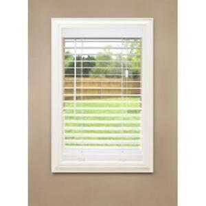 36 x 64 white etched woodgrain faux wood 2 in slat window plantation blind 76686701210 ebay. Black Bedroom Furniture Sets. Home Design Ideas