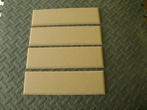 """4 x 10/"""" x 3/"""" HAND CRAFTED 6mm MDF WOODEN RECTANGLES SHAPE PLAQUES BLANKS SIGNS"""