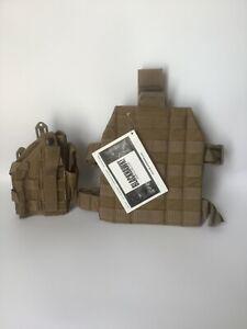 British Army Issue Blackhawk Drop leg holster & Molle Leg Platform SFSG New