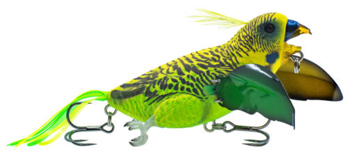 """New Chasebaits The Smuggler 2.5/"""" Musky//Bass Surface Lure Budgie BS65-01"""