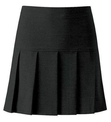 Filles Femme Tout Rond Plissé école jupe avec DROP Taille Uk Taille 5-16 et 8-18