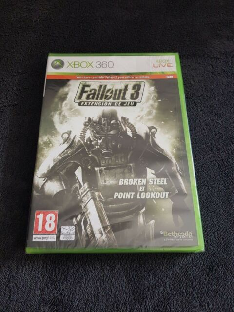 XBOX 360 FallOut III 3 Broken Steel et Point Lookout PAL neuf sous blister