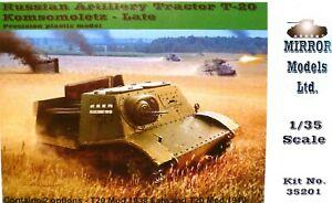 Mirror Models 1:35 T-20 komsomoletz Russe Artillerie Tracteur (late) Model Kit