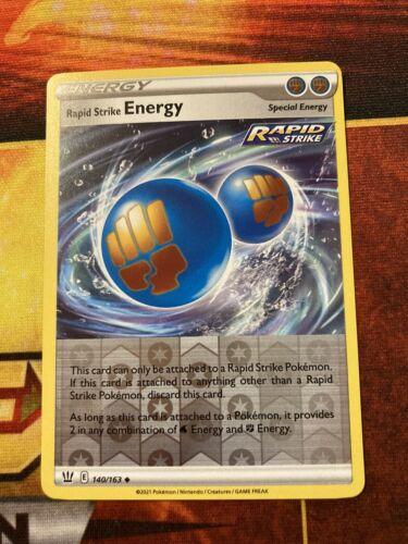 Pokemon Card Rapid Strike Energy Reverse Holo (140/163) - Battle Styles NM