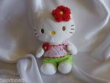 Doudou peluche Hello Kitty, blanc, débardeur imprimé, Sanrio 1976