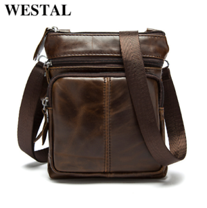 e9c573220021 Image is loading Men-Vintage-Genuine-Leather-Business-Shoulder-Bag-Cross-