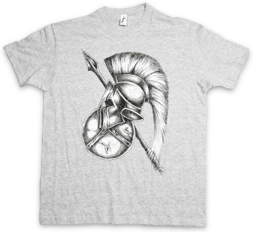 SPARTAN GEAR T-SHIRT Sparta Spartans Spartaner Schild Speer Helm Leonidas 300