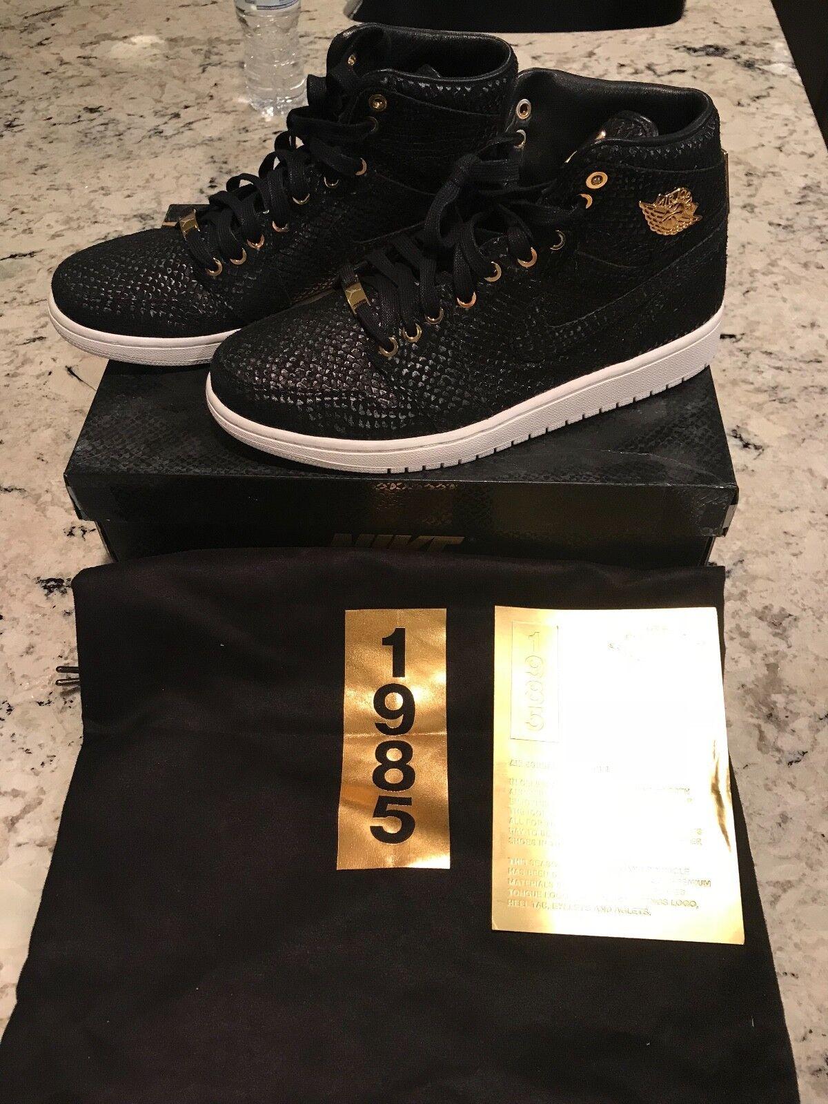 Air Jordan 1 Retro I High Pinnacle Pack Black Metallic 24k gold White 705075-030