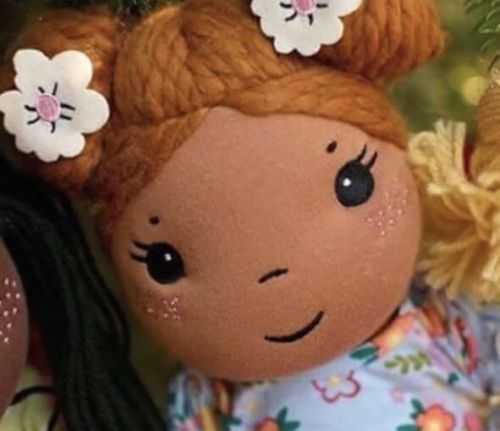 """Matilda Jane OLIVIA DOLL IN CHALKBOARD DOODLE DRESS  SOLD OUT COZY TOWN 18"""" Girl"""