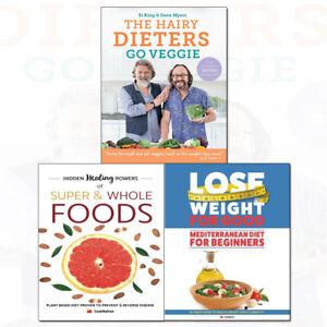 Details about Mediterranean Diet,Hairy Dieters Go Veggie 3 Books Collection  Set Hidden Healing