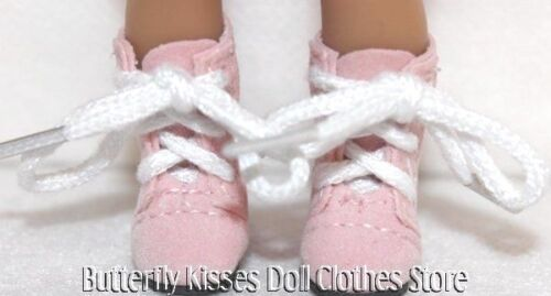 Pink Suede Lace Up Boots 6 in Doll Clothes Fits Mini American Girl