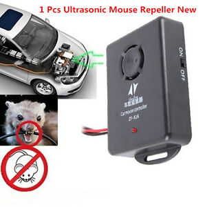 New 12VDC Ultrasonic Control Mouse Rodent Pest Animal Repeller Deterrent For Car