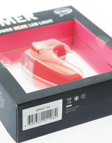 KNOG BOOMER /'12 Red W// 1 RED LED Bike Rear Light 7 Lumen 4 Mode 600m NEW