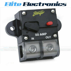 What Gauge Wire For 50 Amp >> Details About Stinger Sgp90501 50 Amp Circuit Breaker 0 Or 4 Gauge Wire Terminal Car 12v 50a