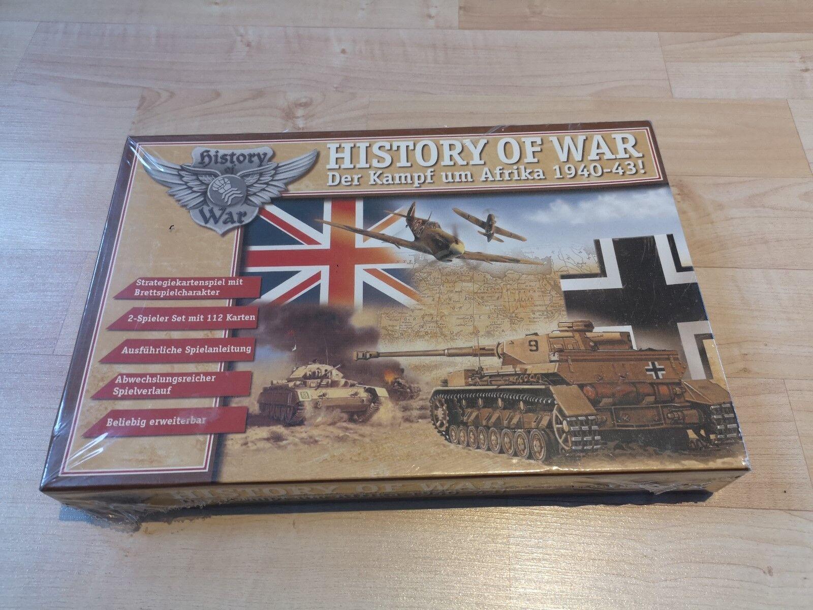 Brettspiel Spiel History of War Der Kampf um Afrika unbespielt in OVP  1559