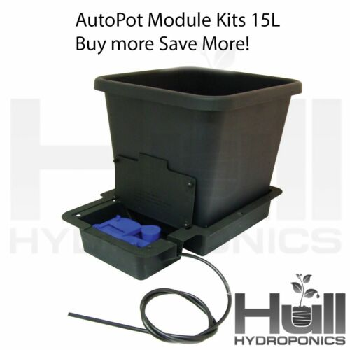 AUTOPOT 15L 1 Pot Module Kits 1,2,4,6,8,10 POT SYSTEMS Gravity Fed Hydroponics