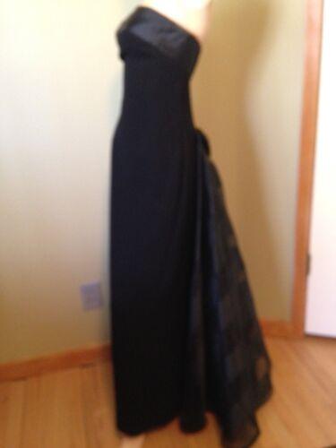 WAYNE CLARK BLACK STRAPLESS  FORMAL DRESS 8