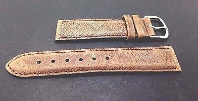 EGGPLANT LEATHER WATCH STRAP   20MM FOR OLL TYPES OF WATCHES