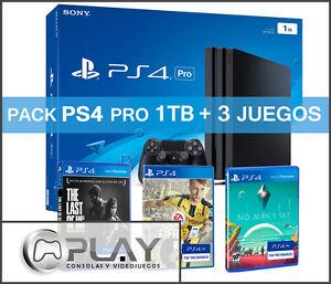 PS4 PRO 1TB Playstation 4 PRO - Incluye FIFA 17 + The Last of Us + No Man's Sky