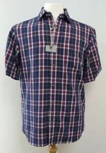 Ex-M-amp-S-REGULAR-FIT-EASY-CARE-SOFT-TOUCH-SHORT-SLEEVE-CHECK-SHIRT-S-M-L-XL-XXL