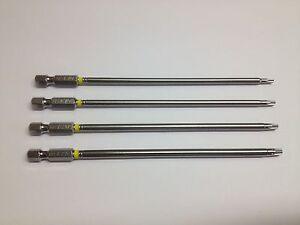 4-x-Torx-T10-T15-T20-T25-Bits-extra-lang-150-mm-aus-S2-Stahl-Bit-Satz