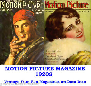 Motion-Picture-1920s-Vintage-Collection-Film-Movie-Screen-Magazines-on-Data-Disc