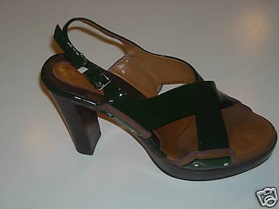 Cindy Dice sandali verdi Couture Coloreee vernice - Dimensione 7M   ottima selezione e consegna rapida