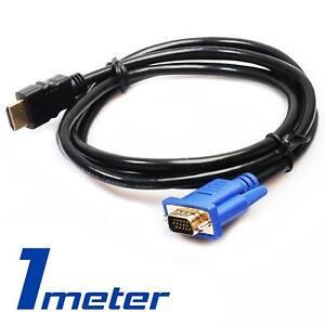 HDMI zu VGA Kabel HD 15 D SUB Videoadapter HDMI-Kabel für PC HDTV-Monitor