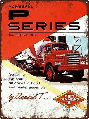 """1970s Kenworth K100 Series Transfer Truck build a C.E.O Metal Sign 9x12/"""" A221"""