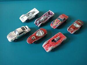 Lot-of-6-Hot-Wheels-Redlines-Vintage-Collection-67-74-Porsche-Corvette