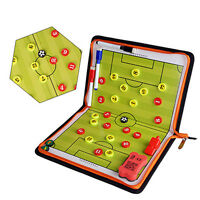 Portable Football Soccer Magnetic Coach Board Training Zipper Tactical Board Kit