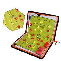 Portable Football Soccer Magnetic Coach Board Training Zipper Tactical Board Kit