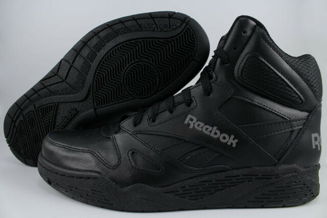 REEBOK ROYAL BB4500 HIGH HI WIDE E BLACK GRAY CLASSIC BASKETBALL LEATHER  MENS SZ 7a8575436