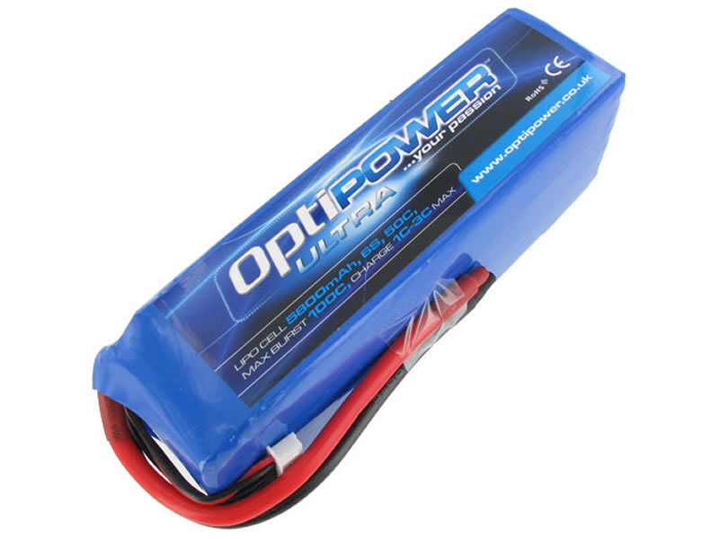 Optipower Ultra 50c 5800mah 6S 50c Dunkan Bossion Edición