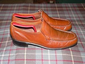 Vtg Hanover Lb Sheppard Signature Brown Moc Toe Loafers