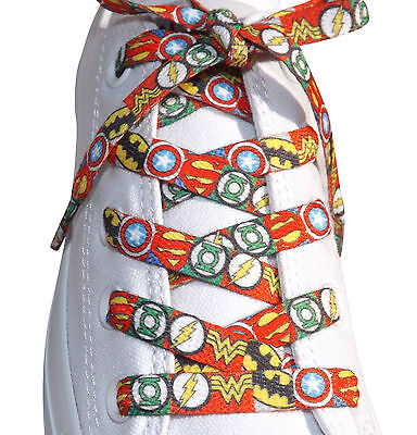 Marvel /& DC Super Hero Shoelaces 120cm For Boys Mens Trainers Novelty Gift Idea