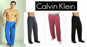 Calvin Klein Mens Pajama Pants Sleeping Micro Modal Lounge Ck U1143- U5577 Gray