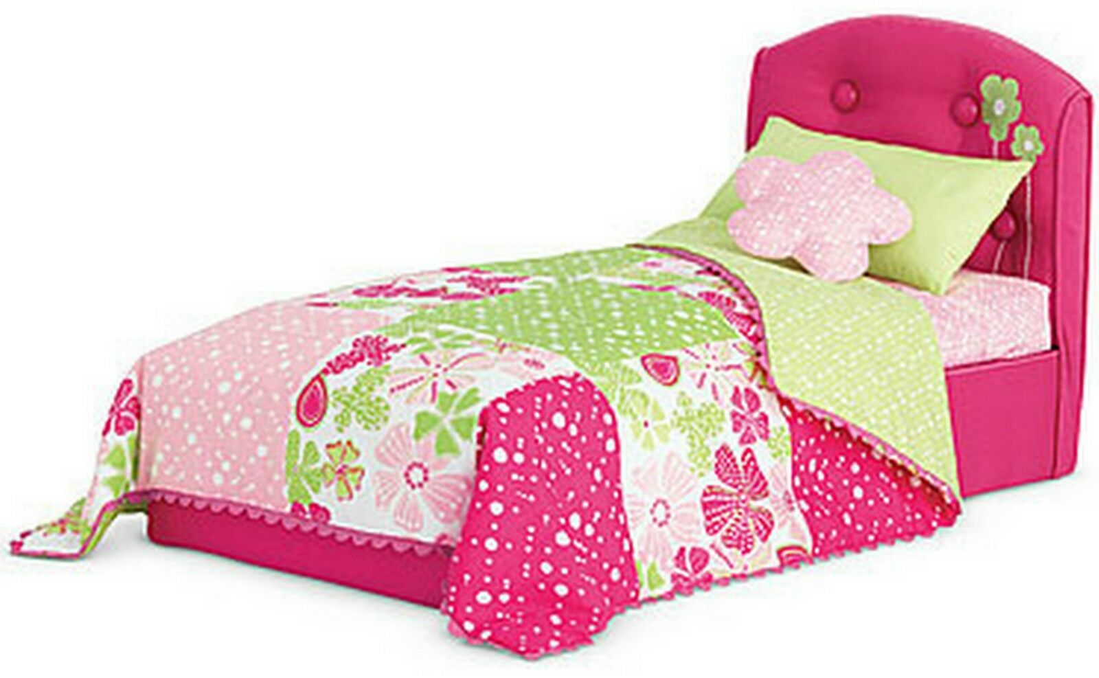 Excellent Gorgeous American Girl Bloom Bed & Bedding Set For Dolls Original Box